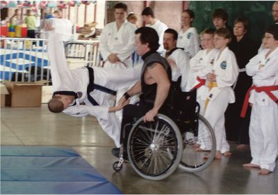 Bill Auvenshire doesn't let a disability stop him from competing in martial arts! Source: Martial Arts with Disabilities Blog