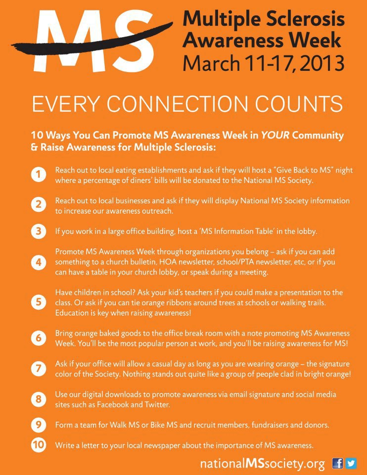 Here's how you can help spread the word about MS awareness week!