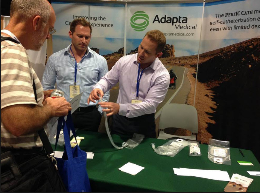 The Adapta Medical team demonstrates their new hydrophilic catheters at tradeshows nationwide.