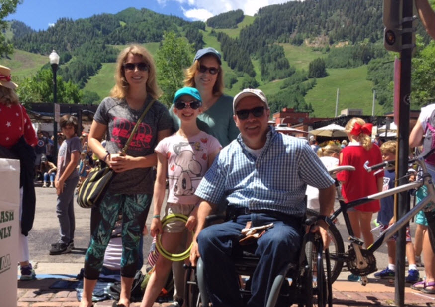 Glen with his family, enjoying a sunny day in Colorado Springs.